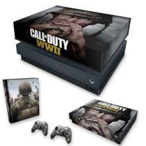 Capa Anti Poeira e Skin para Xbox One X - Call Of Duty Ww2 - Pop Arte Skins
