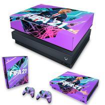 Capa Anti Poeira e Skin para Xbox One X - FIFA 21 - Pop Arte Skins