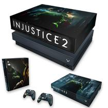 Capa Anti Poeira e Skin para Xbox One X - Injustice 2 - Pop Arte Skins
