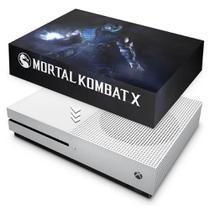 Capa Anti Poeira para Xbox One S Slim - Mortal Kombat X - Subzero - Pop Arte Skins