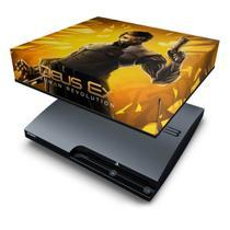 Capa Anti Poeira  PS3 Slim - Deus Ex Human - Pop Arte Skins