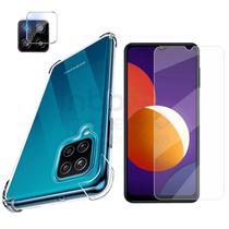 Capa Anti Queda + Pelicula Vidro + Camera Samsung Galaxy M12 - inboxmobile