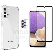 Capa Anti Queda Samsung Galaxy A32 + Pelicula 3D + Pl Camera - inboxmobile