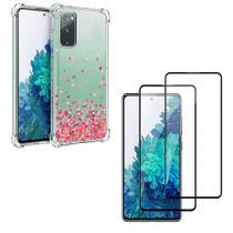 Capa Anti Quedas Corações Samsung Galaxy S20 Fe + 2x Películas 5D Nano Flexível - JFO.Comercio