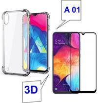Capa Anti Shock para Samsung Galaxy A01 + Película de Vidro 3D -