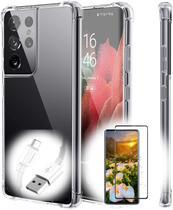 Capa Anti Shock para Samsung Galaxy S21 + Pelicula de Gel + Cabo Carregador - cell case