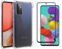Capa Anti Shock + Pelicula vidro 3D Samsung Galaxy A72 Tela 6,7 - Fse Acessórios