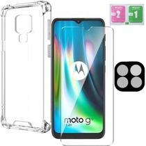 Capa Antishock Película 3D Protetor Camera Gel Moto G9 Play - Highquality