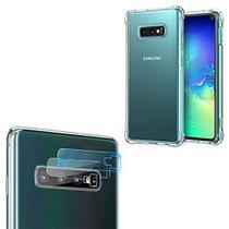 Capa Antishock + Película Gel Câmera Lente Samsung Galaxy S10+ (Galaxy S10 Plus) - Para Samsung