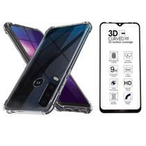 Capa Antishock + Película Vidro 3D Full Cover Motorola Moto G8 PLUS - Coronitas Acessorios