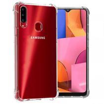 Capa Antishock Reforçada Nas Bordas Samsung Galaxy A20S + Película De Gel Cobre 100% - Dv