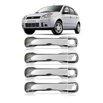 Capa Aplique Maçaneta Cromado Ecosport 2003 a 2012 Fiesta 2002 a 2010 4 PORTAS - Shekparts