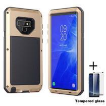 Capa Armadura Super Blindada Samsung Galaxy S10e - Dourado - Oem