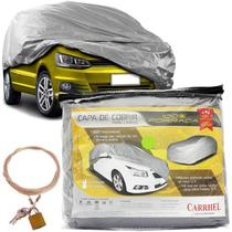 Capa Automotiva Cobrir Carro Protetora Forrada Total e Cadeado Tamanho P Carrhel -