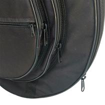 """Capa bag case mochila pratos bateria acolchoado com divisão 20"""" extra luxo - bonga -"""