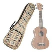 Capa Bag Ukulele Concert Xadrez Custom Sound UKC XD + Acessórios -