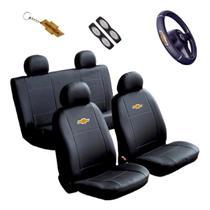 Capa Banco Carro Sintético + Capa Volante Astra Hatch 2004 - Chevrolet