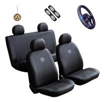 Capa Banco Carro sintético + Capa Volante Bora 2000 - Volkswagen