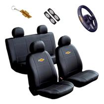 Capa Banco Carro Sintético + Capa Volante Classic 2011 - Chevrolet