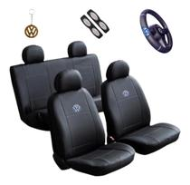 Capa Banco Carro Sintético + Capa Volante Gol G2 G3 G4 G5 G6 G7 - Volkswagem