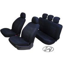 Capa Banco Tecido Automotivo Preto Universal Hyundai HB20 HB20s HB20X - Garagem12