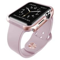 e6243bd34c3 Capa Bumper Apple Watch 42mm Defense Edge X-Doria Rose Gold com Pelicula 3D  Tela Inteira Premium