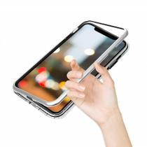 Capa Bumper (PRATA) C/ Vidro Traseiro Magnética Imã Samsung Galaxy S9+ Plus G965 Tela 6.2 - Dv