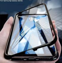 Capa Bumper (PRETA) C/ Vidro Traseiro Magnética Imã Samsung Galaxy S10+ Plus tela 6.4 - Dv