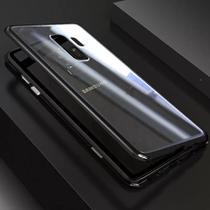 Capa Bumper (PRETA) C/ Vidro Traseiro Magnética Imã Samsung Galaxy S9+ Plus G965 Tela 6.2 - Dv
