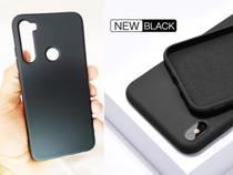 capa c/ aveludada fosca fina MI Note 8 Tela 6.3 + pelicula full gel - G-Glass