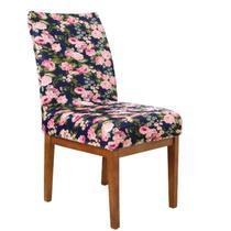 Capa Cadeira p/ Mesa Sala de Jantar 6 Lugares Flower - Charme Do Detalhe