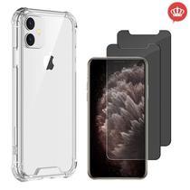 """Capa Capinha Anti Impacto iPhone 11 6.1"""" + 2x Películas de Vidro Privacidade - Coronitas Acessorios"""