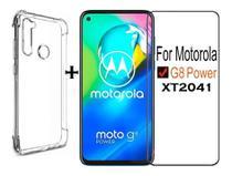 Capa Capinha Anti Impacto Moto G8 Power + Pelicula de Vidro 9D 9H - Flex
