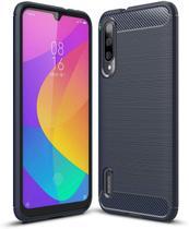 Capa Capinha Anti Impacto Para Xiaomi Mi 9 Lite Tela De 6.39 Case Com Desenho Fibra De Carbono - Danet - Danet