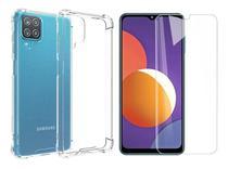 Capa Capinha Anti Impacto + Pelicula Vidro 9h Samsung Galaxy M12 6.5 - Russo Shop