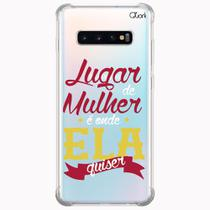 Capa capinha anti shock galaxy s10+ plus feminismo 1594 - Quarkcase