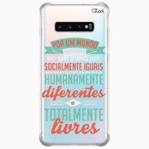 Capa capinha anti shock galaxy s10+ plus feminismo 1597 - Quarkcase