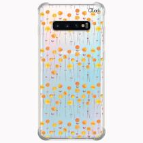Capa capinha anti shock galaxy s10+ plus flores 2 0929 - Quarkcase