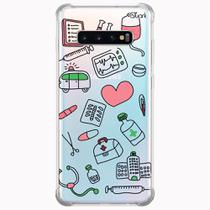 Capa capinha anti shock galaxy s10+ s10 plus 0058 medicina - Quarkcase