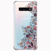 Capa capinha anti shock galaxy s10+ s10 plus 0150 flores - Quarkcase