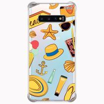Capa capinha anti shock galaxy s10+ s10 plus 0233 beach - Quarkcase