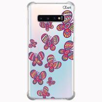 Capa capinha anti shock galaxy s10+ s10 plus 0295 borboletas - Quarkcase
