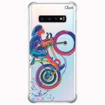 Capa capinha anti shock galaxy s10+ s10 plus 0323 ciclista - Quarkcase