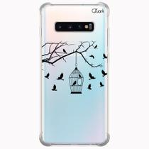 Capa capinha anti shock galaxy s10+ s10 plus 0339 passaros - Quarkcase