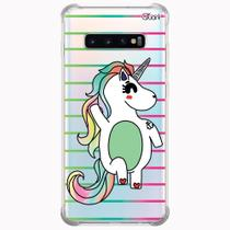 Capa capinha anti shock galaxy s10+ s10 plus 0449 unicórnio - Quarkcase