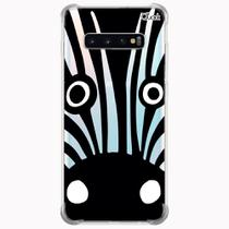 Capa capinha anti shock galaxy s10+ s10 plus 0610 zebra - Quarkcase