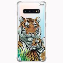 Capa capinha anti shock galaxy s10+ s10 plus 0619 tigers - Quarkcase