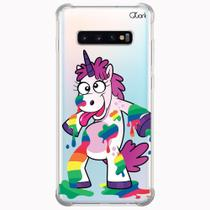 Capa capinha anti shock galaxy s10+ s10 plus 0710 unicórnio - Quarkcase