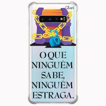 Capa capinha anti shock galaxy s10+ s10 plus 0765 frases 4 - Quarkcase