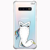 Capa capinha anti shock galaxy s10+ s10 plus 0860 unicórnio - Quarkcase